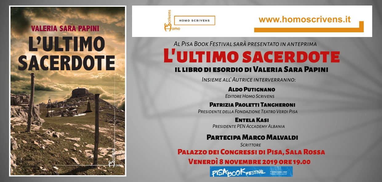 The Last Priest: first presentation at the Pisa Book Festival on November 8th